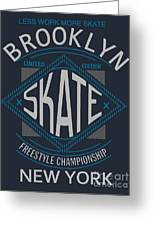 Skate Board Typography, T-shirt Greeting Card