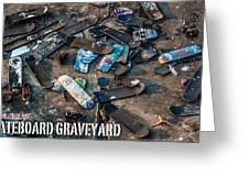 Skateboard Graveyard London England Poster Greeting Card