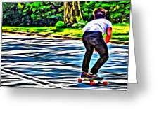 Skateboarder In Central Park Greeting Card