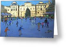 Skaters  Somerset House Greeting Card by Andrew Macara
