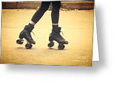 Skates In Motion Greeting Card