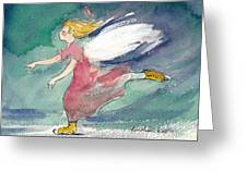 Skating Angel Greeting Card