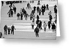 Skating In Black And White Greeting Card