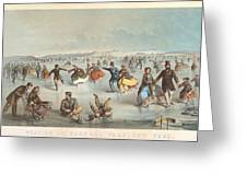 Skating In Central Park. New York Greeting Card