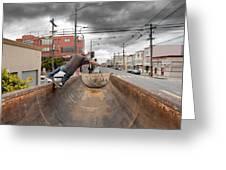 Dump Truck Skateboarding In Balboa Street Greeting Card