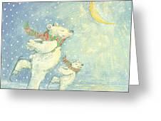 Skating Polar Bears Greeting Card