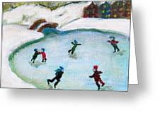 Skating Pond Greeting Card