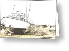 Skeleton Boat Greeting Card