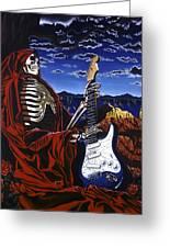 Skeleton Dream Greeting Card by Gary Kroman