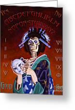 Skeleton Geisha Ouija Board Greeting Card