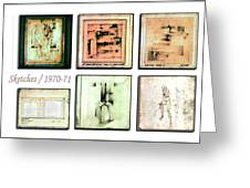 Sketches 1970 To 71 Greeting Card