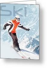 Ski 2 Greeting Card