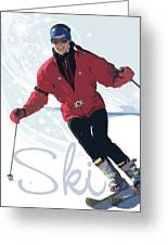 Ski 3 Greeting Card