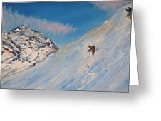 Ski Alaska Heli Ski Greeting Card