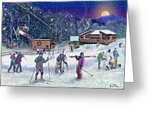 Ski Area Campton Mountain Greeting Card