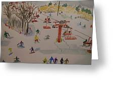 Ski Area Greeting Card