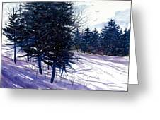 Ski Hill Greeting Card