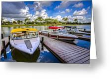 Ski Nautique Boats Greeting Card