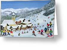 Ski Whizzz Greeting Card by Judy Joel