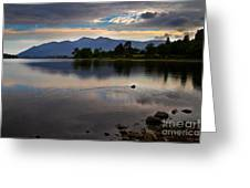 Skiddaw And Derwent Water At Dawn Greeting Card