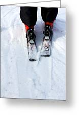 Skier Greeting Card