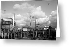 Skiffs At  Montereys Fisherman's Wharf California Circa 1945 Greeting Card