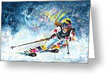 Skiing 03 Greeting Card
