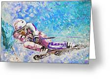 Skiing 06 Greeting Card