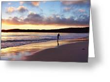 Skimboarder Sunset #2 Greeting Card