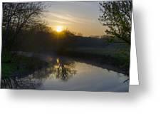 Skippack Creek Sunrise Greeting Card
