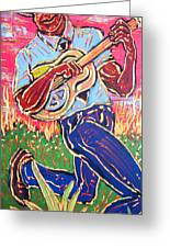 Skippin' Blues Greeting Card by Robert Ponzio