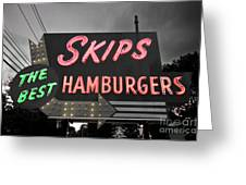 Skips Hamburgers II Greeting Card