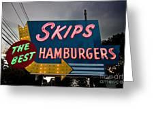 Skips Hamburgers Greeting Card