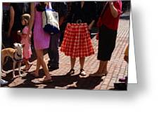 Skirts And Pooches On Capitol Hill Greeting Card