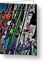 Skis At Mccauley Mountain II Greeting Card