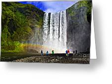 Skogarfoss Greeting Card
