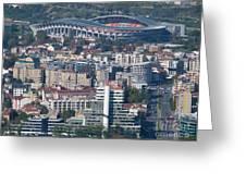 Skopje City And Stadium Greeting Card