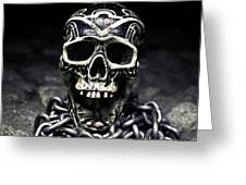 Skull And Chains Greeting Card