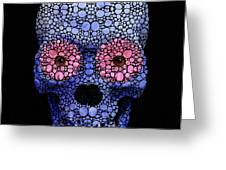 Skull Art - Day Of The Dead 1 Stone Rock'd Greeting Card