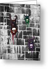 Skull Backed Beatles Greeting Card by Diana Shively