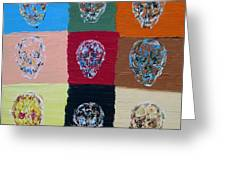 Skull Pop Nine Greeting Card