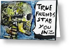 Skull Quoting Oscar Wilde.2 Greeting Card