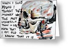 Skull Quoting Oscar Wilde.3 Greeting Card