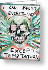 Skull Quoting Oscar Wilde.7 Greeting Card