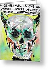 Skull Quoting Oscar Wilde.8 Greeting Card