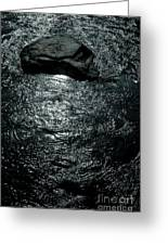 Skull Shaped Rock In River Eman At Hogsby Sweden Greeting Card