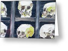 Skulls In The Crypt Greeting Card