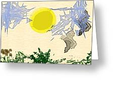 Sky Abstract Greeting Card