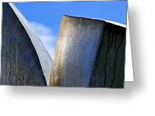 Sky And Metal In The Garden Greeting Card