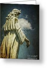 Sky Angel Greeting Card by Terry Rowe